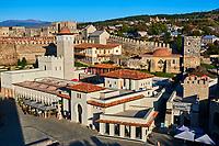 Géorgie, région de Samtskhé-Djavakhétie, Akhaltsikhe, le château de Rabati datant du IXe siècle // Georgia, Caucasus, Samtskhé-Djavakhétie, Akhaltsikhe, Rabati castle from 9th century