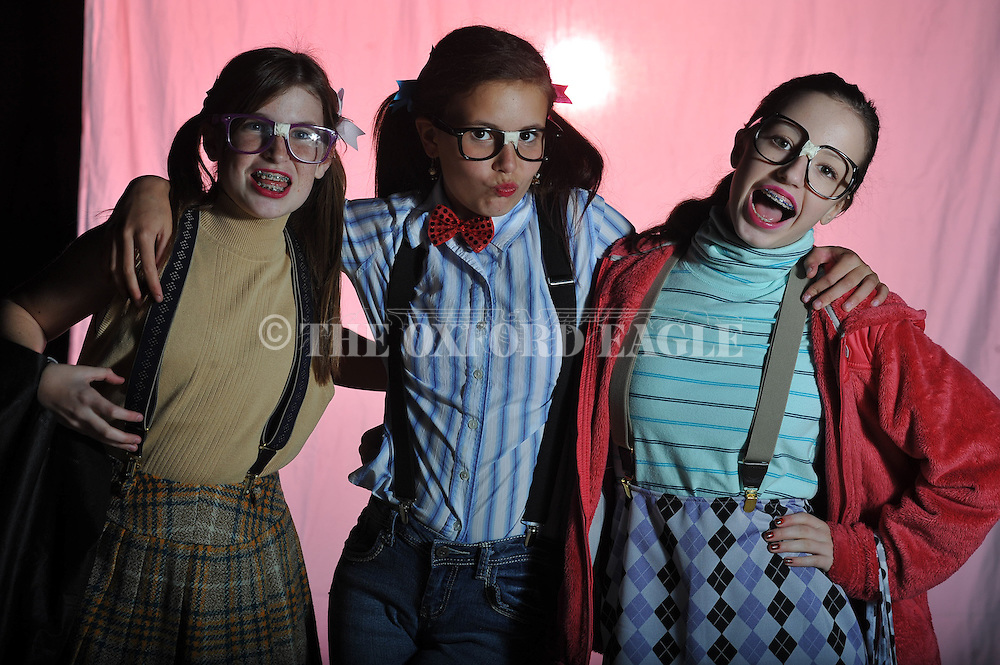 Betsy Little (from l.), Emma Herbst, and Julia Claire Jankowski pose on Halloween in Oxford, Miss. on Wednesday, October 31, 2012.