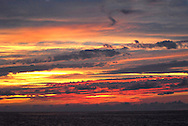 Sunset from t the Polisini Greek Wreck  (Kinsei Maru), Silver Banks Marine Sanctuary, Dominican Republic, Caribbean Sea