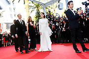 James Gray, actors Marion Cotillard, Jeremy Renner attend the 'The Immigrant' premiere during The 66th Annual Cannes Film Festival at the Palais des Festivals on May 24, 2013 in Cannes