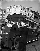1958 - Garda on Duty in Dublin City centre