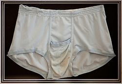 © Licensed to London News Pictures . 07/09/2012 . Manchester , UK . A pair of Elvis Presley's underpants , which go up for auction tomorrow (8th September) at Omega Auction House in Stockport . They are expected to fetch £7,000 . They will be auctioned alongside other pieces of Elvis memorabilia , including the King's personalised bible . Photo credit : Joel Goodman/LNP