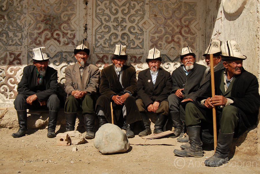 A portrait of Kyrgyz old men