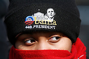 An Obama inauguration attendee watches from about a mile away.