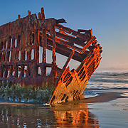 Peter Iredale Shipwreck - Sunset - Oregon Coast - HDR