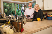 Vince Guasch and Debbie Blackwell of Parsley Sage Rosemary & Thyme Catering pose for a portrait at their home in Mountain View, California, on November 13, 2015. (Stan Olszewski/SOSKIphoto)