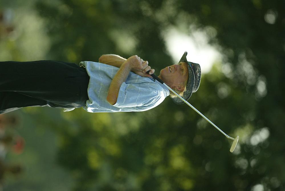 Greg Norman..2003 PGA Championship..First Round..Oak Hill CC..Rochester, NY..Thursday, August 14  2003..photograph by Darren Carroll