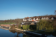 Henley, Oxfordshire. England General View; Henley Town,  England General Views Leander Club, Henley, Berkshire from Henley Bridge. Thursday  01/12/2016<br /> © Peter SPURRIER<br /> LEICA CAMERA AG  LEICA Q (Typ 116)  f1.7  1/6400sec  35mm  7.5MB