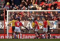 Photo: Glyn Thomas.<br />Charlton Athletic v Arsenal. The Barclays Premiership.<br />26/12/2005.<br />Arsenal's keeper Jens Lehmann (second from L) makes a last-gasp save to deny Charlton.