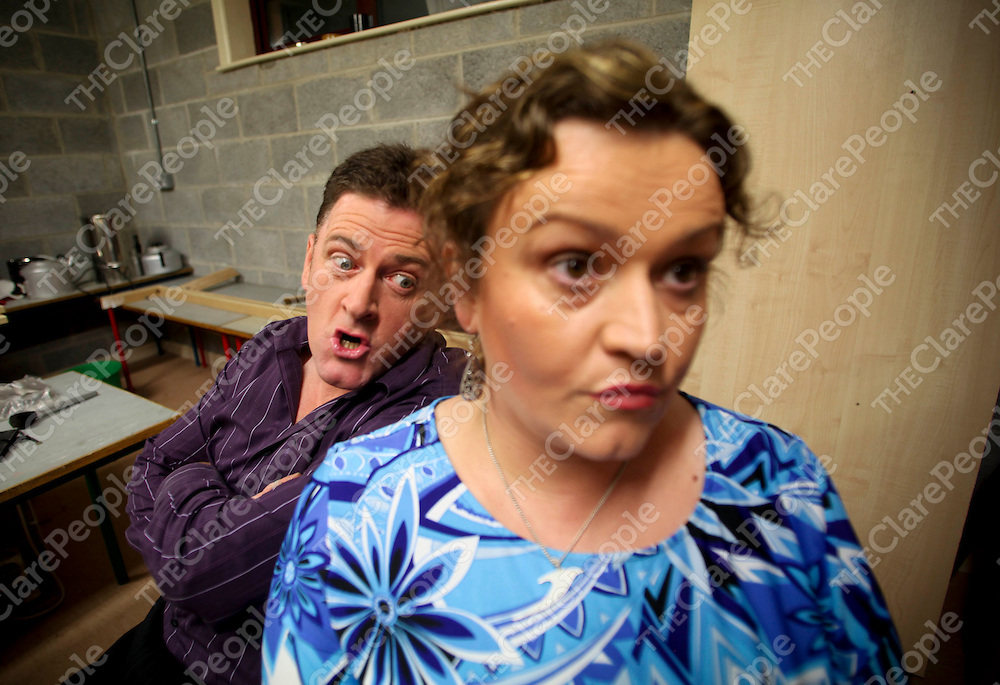 13.10.2011.<br /> Corofin Theatre rehearsals. Peter Daffy (Jack) and Sandra Cox (Mary) in Whats For Pudding at Killinaboy Hall.<br /> Pic Alan Place Press 22