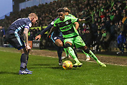 Forest Green Rovers Reece Brown(10) on the ball on the ball during the EFL Sky Bet League 2 match between Forest Green Rovers and Bury at the New Lawn, Forest Green, United Kingdom on 19 January 2019.