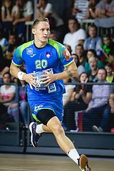Tilen Kodrin of Slovenia during friendly handball match between Slovenia and Nederland, on October 25, 2019 in Športna dvorana Hardek, Ormož, Slovenia. Photo by Blaž Weindorfer / Sportida
