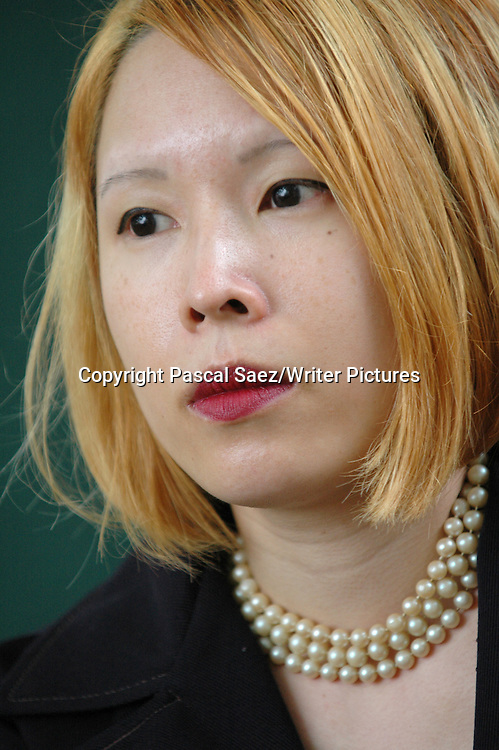 Poet and writer Jane Yeh at the Edinburgh International Book Festival.<br /> <br /> Copyright Pascal Saez/Writer Pictures<br /> <br /> contact +44 (0)20 8241 0039<br /> sales@writerpictures.com<br /> www.writerpictures.com