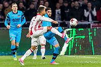 AMSTERDAM - 05-04-2017, Ajax - AZ, Stadion Arena, Ajax speler Justin Kluivert, AZ speler Alireza Jahanbakhsh