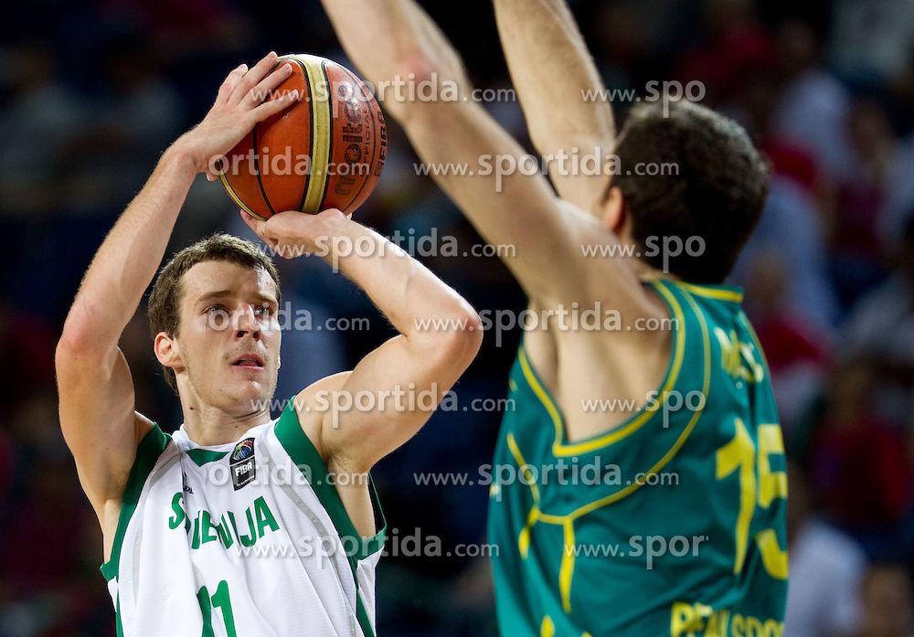 Goran Dragic of Slovenia during  the eight-final basketball match between National teams of Slovenia and Australia at 2010 FIBA World Championships on September 5, 2010 at the Sinan Erdem Dome in Istanbul, Turkey. (Photo By Vid Ponikvar / Sportida.com)