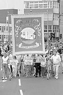 Wistow Branch banner. 1988 Yorkshire Miner's Gala. Wakefield.