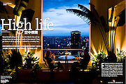 """""""High Life"""", story for Discovery (Cathay Pacific) magazine on rooftop bars in HCMC, November 2008"""