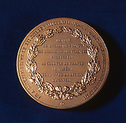 Medal commemorating Claude Bernard, French physiologist Bernard (1813-1878) investigated the liver, discovering glycogen, and determined that most of the process of digestion occurs in the small intestine, rather that the stomach. He showed that haemoglobin carries oxygen in red blood cells, and demonstated how carbon monoxide poisoning disrupted this process. When Bernard died in 1878, the French government organised his funeral, making him the first French scientist to be honoured in this way.