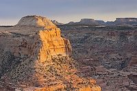 Sunset over buttes and mesas of Little Grand Canyon, San Rafael Swell Utah