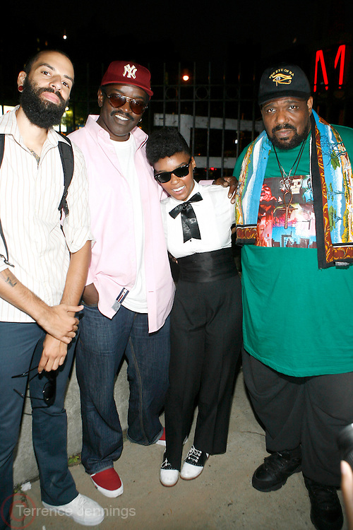 James Spooner, Fab 5 Freddy, Janelle Monae and Afrika Bambaatta at AfroPunk, BAMcinematek and Toyota present the 4th Annual Afro-Punk Festival held at The Afro-Punk Skate Park (BAM parking lot) on July 5, 2008..The festival is the definitive destination for the global Afro-Punks yearning to experience true AP culture. Last year 30,000 people attended, and this year is even bigger, with 40 bands, 15 films screenings, an art exhibit and a skate park.