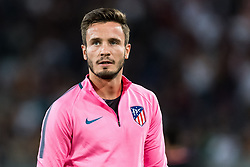 Saul Niguez of Club Atletico de Madrid during the UEFA Champions League group C match match between AS Roma and Atletico Madrid on September 12, 2017 at the Stadio Olimpico in Rome, Italy.
