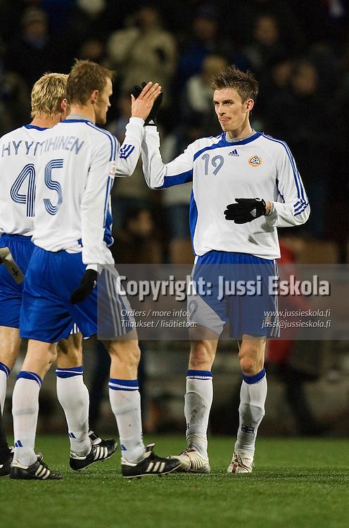 Toni Kallio.&amp;#xA;Suomi-Armenia, Finnair Stadium, Helsinki 15.11.2006. EM-karsintaa.&amp;#xA;Photo: Jussi Eskola<br />