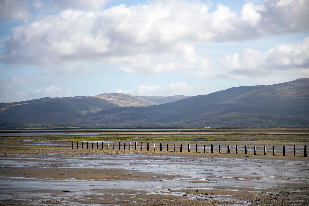 YNYSLAS, WALES, UK 17TH MARCH 2020 - Landscape of Dyfi National Nature Reserve, Borth and Ynyslas Beach and Dyfi Estuary, County of Ceredigion, Mid Wales, UK.