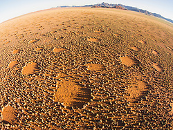 Aerial photographs of mysterious fairy rings or circles in the Namib desert, Namib Desert, Namibia, Africa