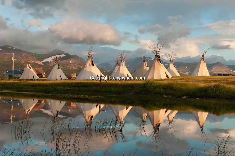 blackfeet tepee's, blackfeet reservation, montana