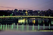 "France. Lyon . Lighting on the Rhone. ""law court footpath"" la passerelle du palais de justice sur la SaôneR00063 15L930827e P0000247"