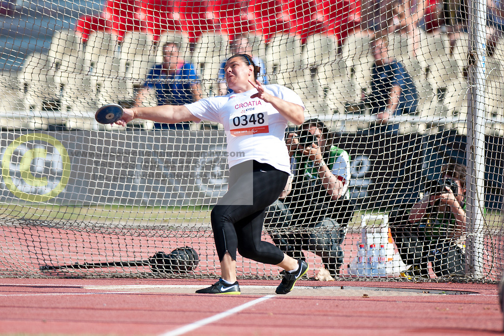 IVEKOVIC MESTROVIC Marija, CRO, Discus, F11/12, 2013 IPC Athletics World Championships, Lyon, France