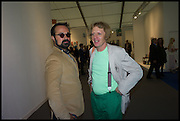 EVGENY LEBEDEV; GRAYSON PERRY, Opening of Frieze art Fair. London. 14 October 2014