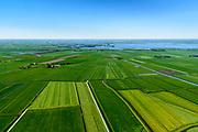 Nederland, Friesland, gemeente Súdwest-Fryslân, 07-05-2018; zicht op het Sneekermeer, ter hoogte van Sijbrandaburen (Sibrandabuorren).<br /> Frisian lake near Sneek.