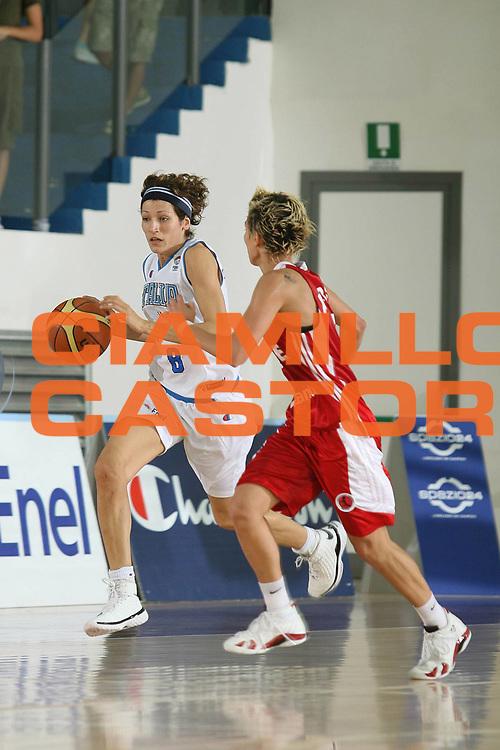 DESCRIZIONE : Chieti Qualificazione Eurobasket Women 2009 Italia Turchia <br /> GIOCATORE : Simona Ballardini <br /> SQUADRA : Nazionale Italia Donne <br /> EVENTO : Raduno Collegiale Nazionale Femminile<br /> GARA : Italia Turchia Italy Turkey <br /> DATA : 27/08/2008 <br /> CATEGORIA : palleggio <br /> SPORT : Pallacanestro <br /> AUTORE : Agenzia Ciamillo-Castoria/M.Marchi <br /> Galleria : Fip Nazionali 2008 <br /> Fotonotizia : Chieti Qualificazione Eurobasket Women 2009 Italia Turchia <br /> Predefinita :