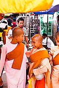 Buddhist Nuns. Yangon, Myanmar.