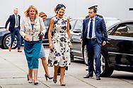 THE HAGUE - Queen Maxima is present at the congress World of Health Care in the Fokker Terminal in The Hague on Thursday 28 September. During this meeting, improving global health care is central. Copyright Robin Utrecht<br /> <br /> DEN HAAG - Koningin Maxima is donderdagmiddag 28 september aanwezig bij het congres World of Health Care in de Fokker Terminal in Den Haag. Tijdens deze bijeenkomst staat het verbeteren van de wereldwijde gezondheidszorg centraal. Copyright robin Utrecht