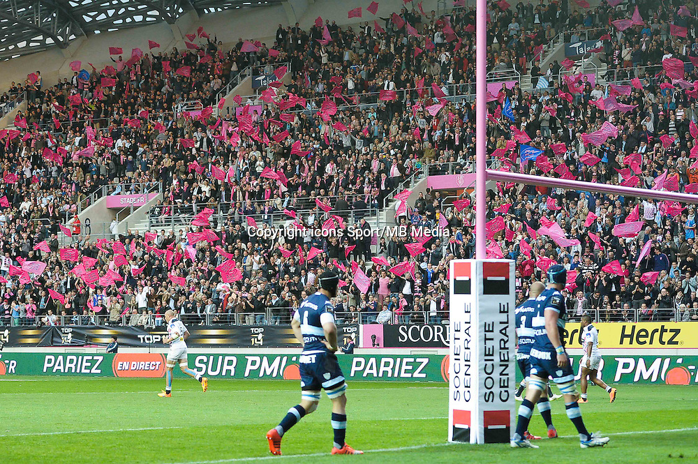 Supporters Stade Francais - 29.05.2015 - Stade Francais / Racing Metro - Barrages Top 14<br />Photo : Andre Ferreira / Icon Sport