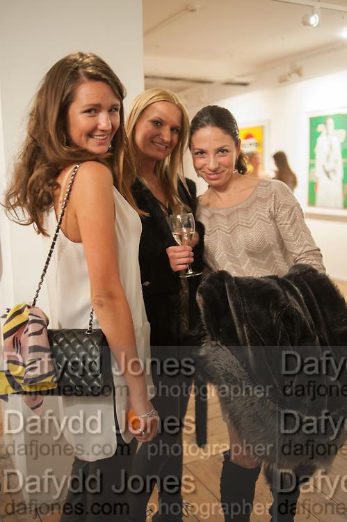 OLIA SARDAROVA; ANNA SHUBINA; DINA BERDNIKOV, Pakpoom Silaphan 'Empire State' Opening Reception, Scream. Eastcastle St. London. 21 February 2013