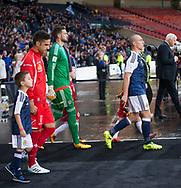 4th September 2017, Hampden Park, Glasgow, Scotland; World Cup Qualification, Group F; Scotland versus Malta; cott Brown leads out Scotland