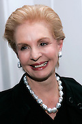 Designer and nominee Carolina Herrera poses after the 2008 CFDA Fashion Awards Nominee Announcement in the Rooftop Gardens at Rockefeller Center  in New York City, USA on March 10, 2008.