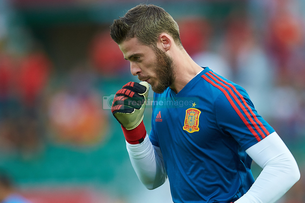 September 11, 2018 - Elche, Alicante, Spain - De Gea of Spainduring the UEFA Nations League football match between Spain and Croatia at Martinez Valero Stadium in Elche on September 11, 2018  (Credit Image: © Sergio Lopez/NurPhoto/ZUMA Press)