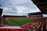 August 19th 2017, Pittodrie Stadium, Aberdeen, Scotland;  Scottish Premiership football, Aberdeen versus Dundee; General view of Pittodrie Stadium, home of Aberdeen