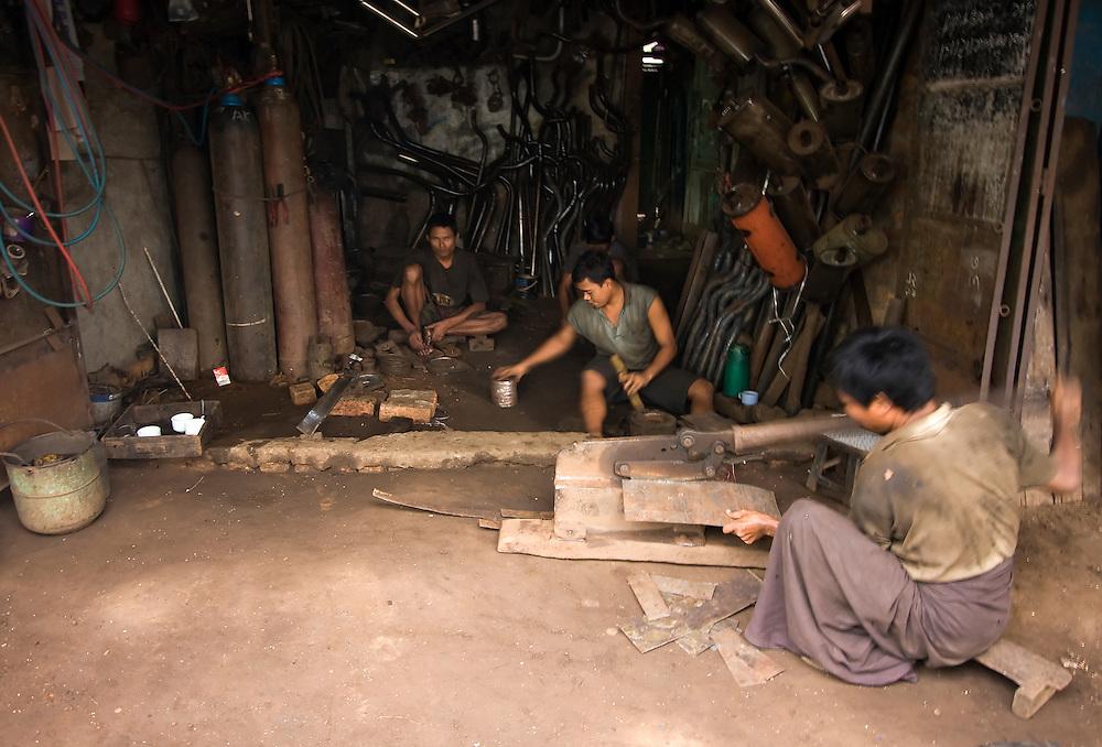 Work in Yangon, Myanmar.