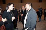 MARINA ABRAMOVIC; AI WEIWEI, Ai Weiwei Unilever series opening. Tate Modern. 11 October 2010. -DO NOT ARCHIVE-© Copyright Photograph by Dafydd Jones. 248 Clapham Rd. London SW9 0PZ. Tel 0207 820 0771. www.dafjones.com.