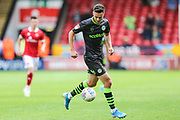 Forest Green Rovers Aaron Collins(10) on the ball during the EFL Sky Bet League 2 match between Walsall and Forest Green Rovers at the Banks's Stadium, Walsall, England on 10 August 2019.