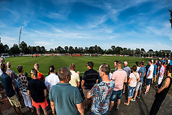 the teams of Go Ahead Eagles and Excelsior at the start of the match during the Friendly match between Go Ahead Eagles and Excelsior Rotterdam at sportcomplex SV Terwolde on July 20, 2018 in Terwolde, The Netherlands