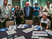 09 JUNE 2019 - CEDAR RAPIDS, IOWA: at the Iowa Democrats 2019 Hall of Fame Celebration in 2019. Nineteen of the Democratic candidates for president in 2020 spoke at the annual event. Iowa traditionally hosts the the first election event of the presidential election cycle. The Iowa Caucuses will be on Feb. 3, 2020.                          PHOTO BY JACK KURTZ