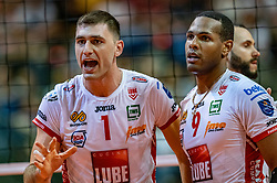 18-05-2019 GER: CEV CL Super Finals Zenit Kazan - Cucine Lube Civitanova, Berlin<br /> Civitanova win the Champions League by beating Zenit in four sets / Tsvetan Sokolov #1 of Cucine Lube Civitanova, Yoandy Leal Hidalgo #9 of Cucine Lube Civitanova