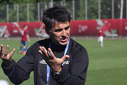 June 15, 2017 - Saint-Petersburg, Russia - Of The Russian Federation. Saint-Petersburg. Base of FC ''Zenit'' in the Specific Park. The FIFA Confederations Cup. Training Referees at the Confederations Cup in football. Testirovanie system video assistance to referees. Presentation of the referees for the Confederations Cup football in Russia.. var. The head of the judicial Department FIFA Massimo Busacca. (Credit Image: © Russian Look via ZUMA Wire)