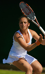 LONDON, ENGLAND - Monday, June 30, 2008: Cindy Chala (FRA) during her girls' singles first round match on day seven of the Wimbledon Lawn Tennis Championships at the All England Lawn Tennis and Croquet Club. (Photo by David Rawcliffe/Propaganda)